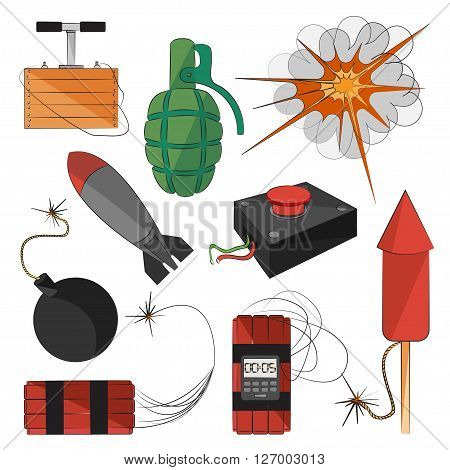 Set of bombs for your design. Explosives
