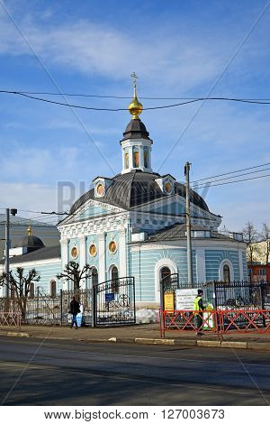 Russia, Yaroslavl-March 29.2016.  Church of the Presentation of the Lord