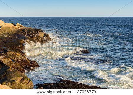 Famous Peggys Cove shoreline (Nova Scotia, Canada)