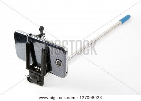 phone close up with the selfie stick
