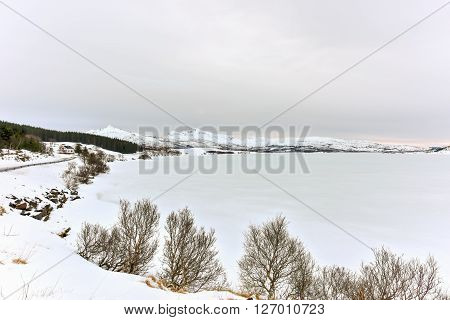 Ostadvatnet, Lofoten Islands, Norway