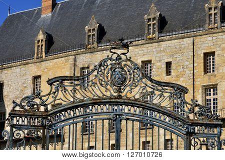 La Roche Guyon France - february 29 2016 : the picturesque castle