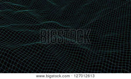 3D illustration of surface looks like mountain scientific background