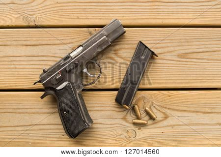 Pistol And Magazine
