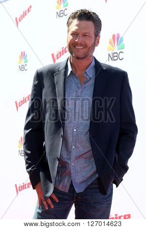 LAS VEGAS - APR 21:  Blake Shelton at the The Voice Red Carpet Event at the Hyde on April 21, 2016 in Los Angeles, CA