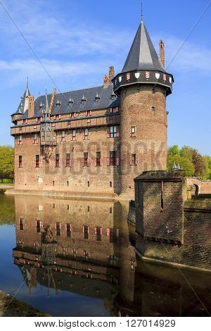 Haarzuilens, Netherlands May 6: There's the Castle de Haar in Netherlands near city Utrecht May 6, 2013 in Haarzuilens, Netherlands.