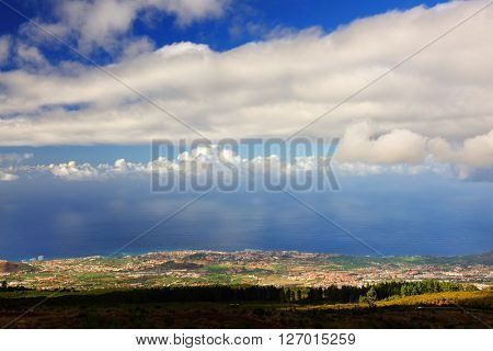 Atlantic coast in Tenerife, Spain, Europe
