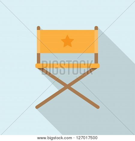 director movie chair vector illustration blue background with shadow