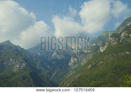 Italian Alps On A Sunny Summer Day.