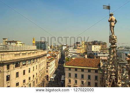 Cathedral In Milan, Italy, Sunny Day