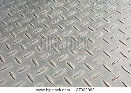 Bumpy metal pattern at angle