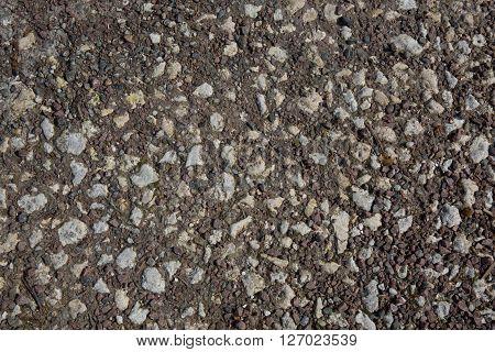 Texture Gray Gravel Big Stones Close Up