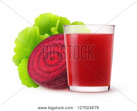 Isolated Beetroot Juice