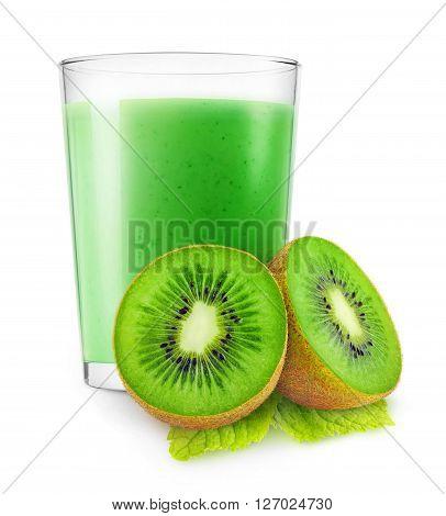 Isolated Kiwi Fruit Smoothie