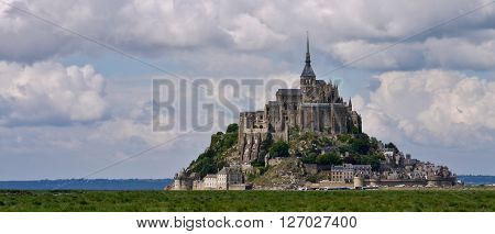 The glorious island commune of Mont Saint-Michel, Normandy, France