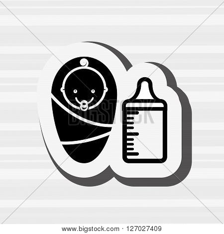 baby shower icon design, vector illustration eps10 graphic