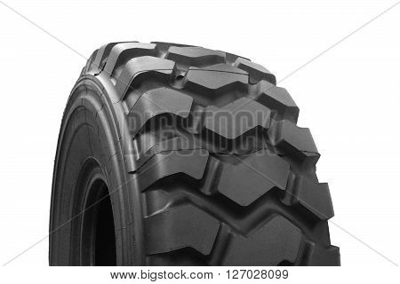 Detail wheel of a truck isolated on a white background