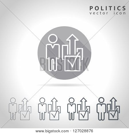 Politics outline icon set, collection voting symbols, vector illustration