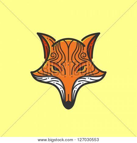 Stylized fox head illustration