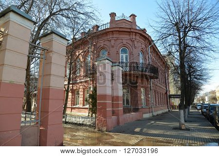 Russia, Yaroslavl-March 29.2016.  House Bukharin - object of a cultural heritage