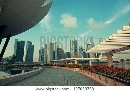 Marina Bay Urban architecture skyscrapers in Singapore