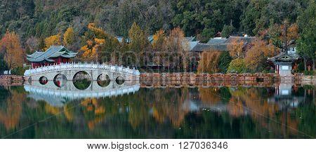 Black Dragon pool in Lijiang, Yunnan, China.