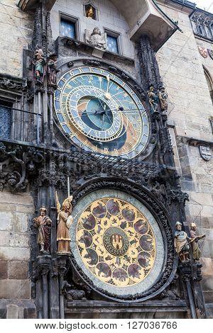 Astronimical Clock In Prague, Czech Republic