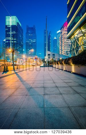 night shanghai downtown district,china