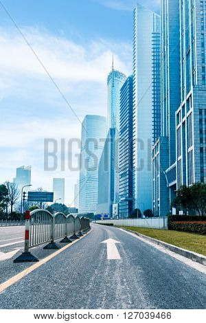 city,building,road under blue sky,shanghai china.