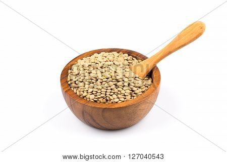 French Green Lentils In Bowl