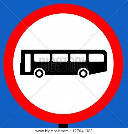 No buses over 8 passenger seats traffic sign