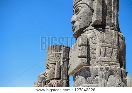 Atlantean figures at the archeological sight in Tula