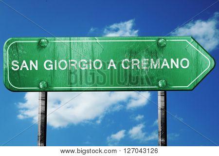San giorgio a cremano road sign, on a blue sky background