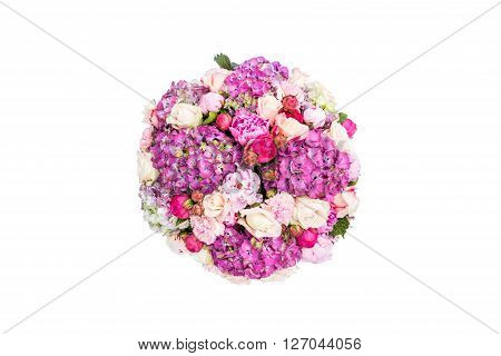 Isolated view of wedding flowers table decoration