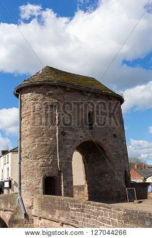 Monmouth Wales Monnow bridge uk historic tourist attraction Wye Valley