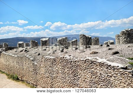 Ancient Toltec ruins in Tula - historical sight