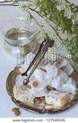 lokum and white nougat - tasty oriental sweets