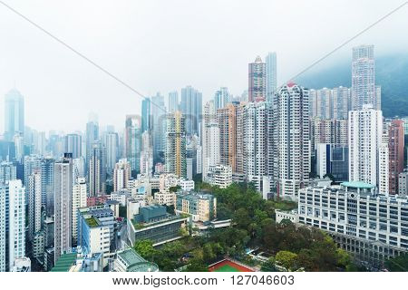 aerial view of hongkong,china.