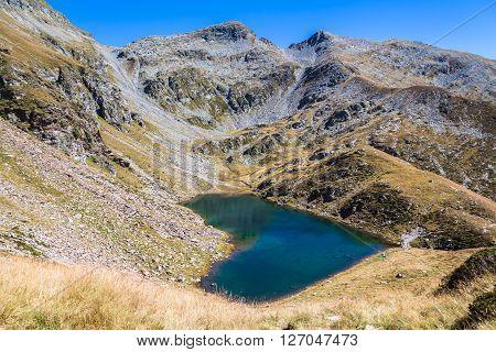 Lagh de Calvaresc - lake of heart Grisons Switzerland