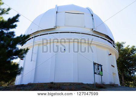 60-inch telescope white dome in Mt.Wilson in California