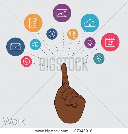 Sharing of working files and reference materials employees project. Tools for business and work. Cloud technologies and services on the devices. Social networking and media technologies and trends.