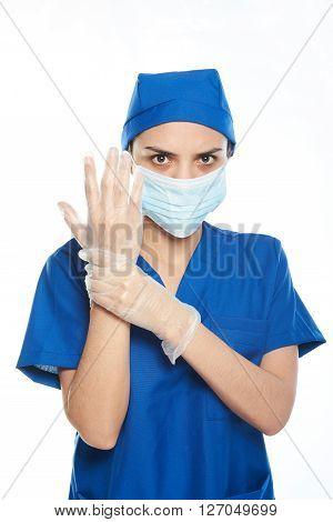 Surgeon Getting Ready