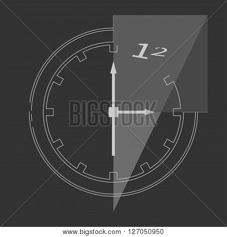 Abstract clock isolated on background. Vector illustration. EPS 10 opacity