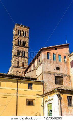 Santa Francesca Romana Church in Roman Forum, Rome, Italy