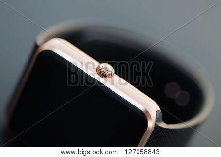 Macro Of Modern Stylish Smart Watch