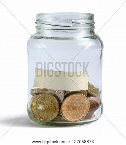 Money on the bottle, dollar, isola ted on white background