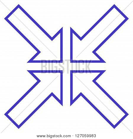 Meeting Point vector icon. Style is contour icon symbol, violet color, white background.