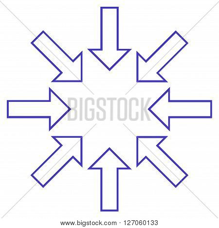 Pressure Arrows vector icon. Style is thin line icon symbol, violet color, white background.