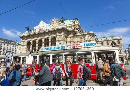 People In Front Of Vienna State Opera House