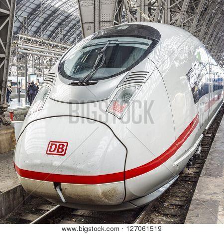 Ice Train In Frankfurt Central Station